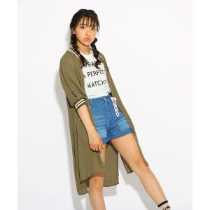 【PINK-latte(ピンク ラテ)】 【SET】ロングMA-1+Tシャツ セット OUTLET > アウター > その他 カーキ