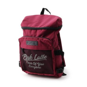 【PINK-latte(ピンク ラテ)】 ボックスリュックバッグ OUTLET > バッグ・財布・小物入れ > リュック ワインレッド