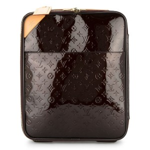 LOUIS VUITTON PRE-OWNED Vernis Pegase 45 スーツケース - ブラウン