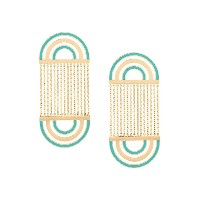 Nevernot embellished drop earrings - メタリック