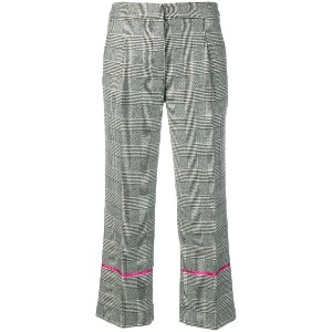 Ermanno Ermanno cropped plaid trousers - グレー