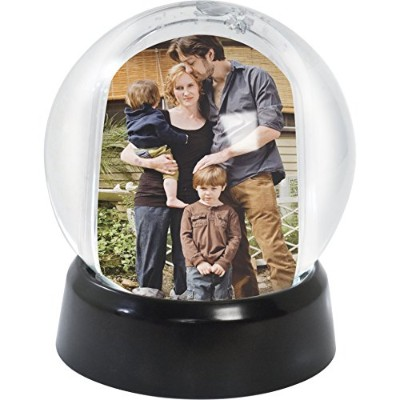 (Black Base) - Mini Photo Snow Globe (Black Base)