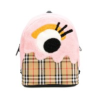 Burberry Kids checked backpack - ブラウン
