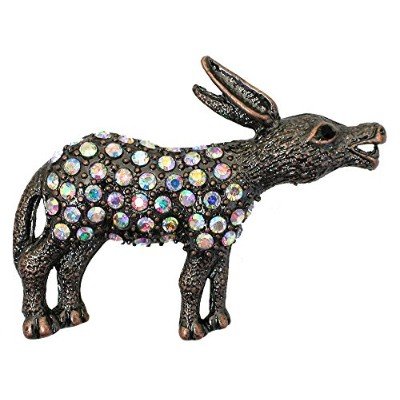 Donkey Pin Brooch Gorgeous AB Crystal The Democratic