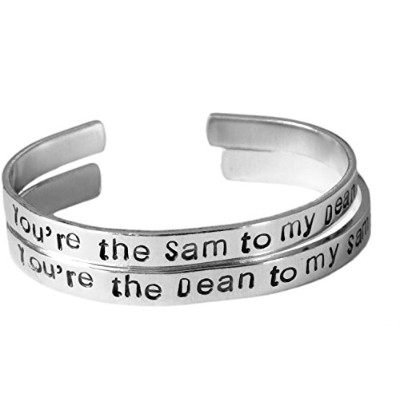Supernatural Inspired–Samにあなたにto My Dean & The Dean to My Sam–A手刻印ブレスレットセットアルミ