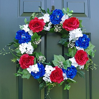 "Patriotic Wreath、24 "" Presidents ' Day 'sギフト装飾"