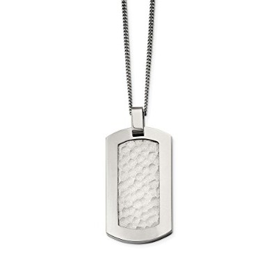Beautiful Titanium Hammered Pendant Necklace comes with a Free Jewelry Gift