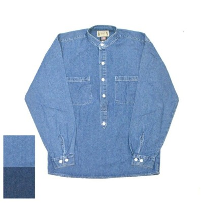 【2 COLORS】CLASSIC OLD WEST STYLES(クラシックオールドウェストスタイルズ) 【MADE IN U.S.A.】 L/S P/O BAND COLLAR SHIRTS...