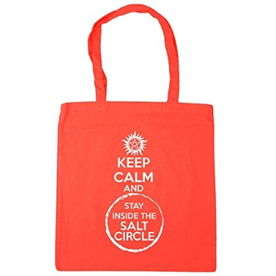 IrmaPetty Keep Calm And Stay Inside The Salt Circle トートバッグ ショッピングジム ビーチバッグ