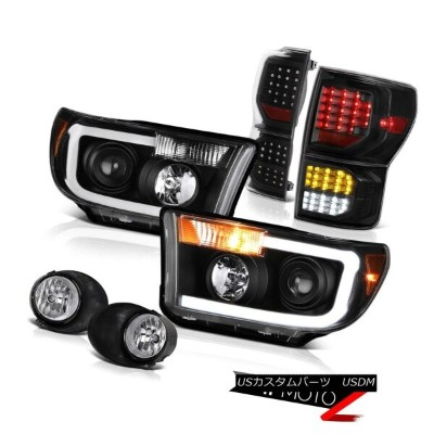 ヘッドライト 2007-2013 Toyota Tundra Limited Taillamps Projector Headlights Chrome Fog Lamps 2007-2013...