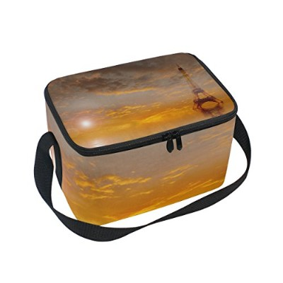 Thermal Insulated Lunch Boxsフランス語タワークーラーバッグfor Workメンズレディース 10x7x6(LxWxH) inches xinming_001