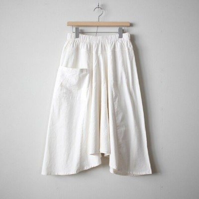 tamaki niime | 玉木新雌 - basic chotan skirt LONG #white