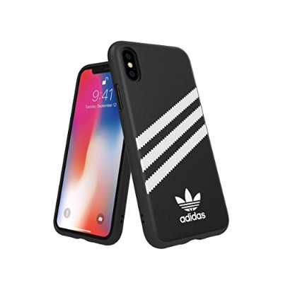 Adidas 31597 OR SAMBA Moulded Case PU FW18 black/white 〔iPhone XS/X用〕