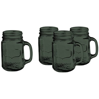 Colored Yorkshire Mason Jar Mug Set of 4 17.5オンス – Additional Vibrant Colors Available by TableTop...