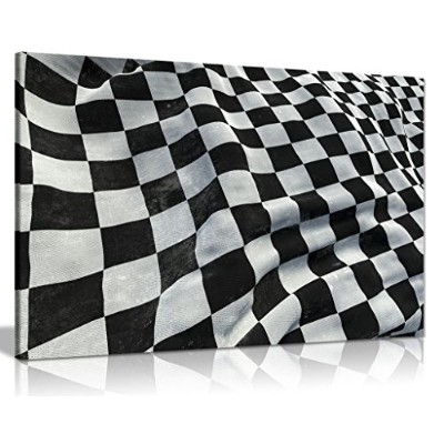 f1Racing Chequered Flag Boys寝室キャンバス壁アート画像印刷 A0 91x61cm (36x24in) 0615517265547
