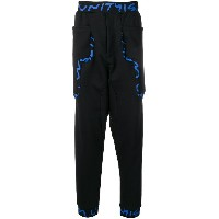 United Standard branded jersey trousers - ブラック
