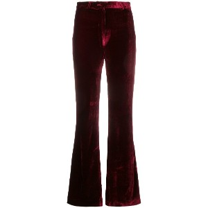 Palomo Spain flared velvet trousers - レッド