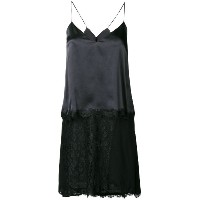 Pinko lace hem high low cami dress - ブラック