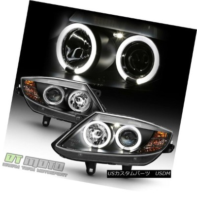 ヘッドライト 2003-2008 BMW Z4 Black LED Halo [HID Version] Projector Headlights Headlamps Set 2003-2008...