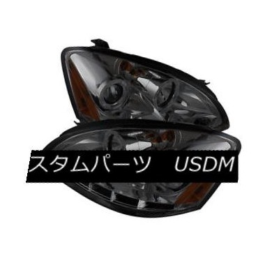 ヘッドライト Fit Nissan 02-04 Altima Smoke Dual Halo LED Projector Headlights Lamp Sl S SE フィット日産02-04...