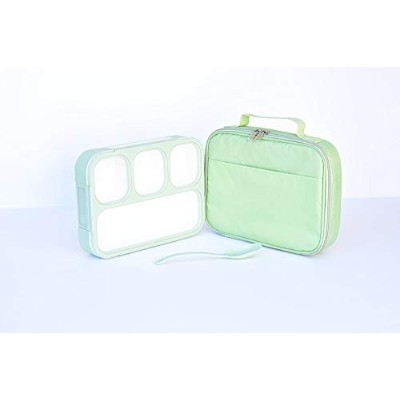 Bento Lunch Box Set | Eco-Friendly, BPA Free, Leakproof Container & Airtight Lid | For Healthy, Dry...