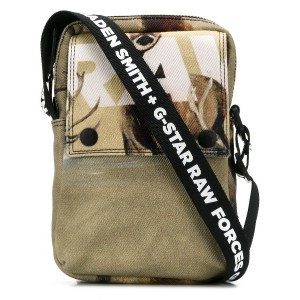G-Star Raw Research printed messenger bag - ニュートラル