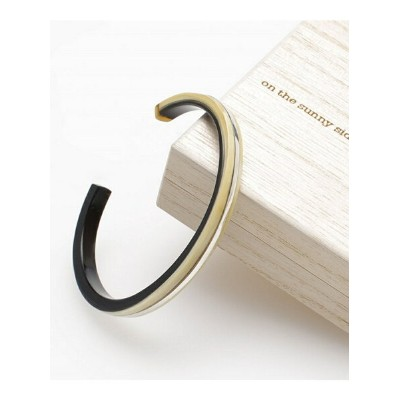 【SALE/10%OFF】on the sunny side of 5mm Buffalo Horn Bangle ナノユニバース アクセサリー【RBA_S】【RBA_E】【送料無料】