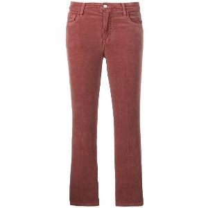 J Brand cropped trousers - レッド