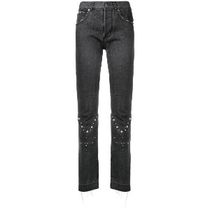 Almaz stud detailed trousers - ブラック