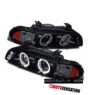ヘッドライト Glossy Black 96-03 BMW 5-Series 525i 528i 540i Halo LED Projector Headlight Glossy Black 96...