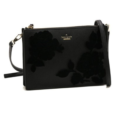 "【10%OFFクーポン配布中】ケイトスペード/KATE SPADE""CAMERON STREET FLOCK ROSES CLARISE""ローズフェルトアップリケ付き・斜め掛けショルダーバッグ..."