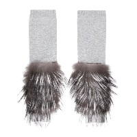 Fabiana Filippi long cuffed sleeves with fur detailing - Vr5 Grey
