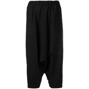 Comme Des Garçons Girl dropped crotch trousers - ブラック