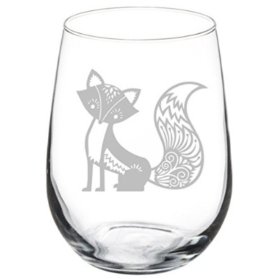(500ml Stemless) - Wine Glass Goblet Fancy Fox (500ml Stemless)
