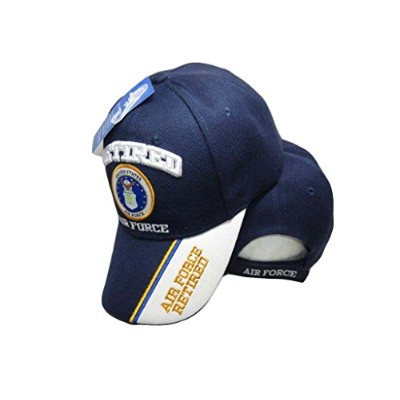 U.S. Air Force Retired Blue/White Shadow Navy Blue Embroidered Cap Hat 593