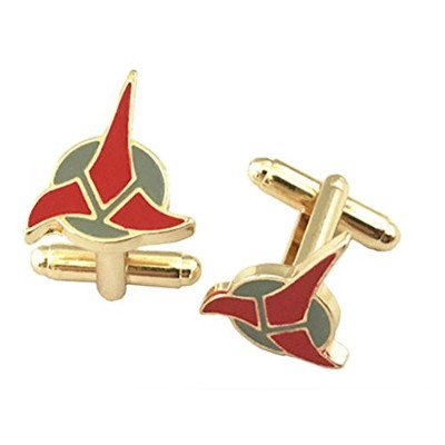 Outlander Gear Star Trek Klingonスーパーヒーロー2018新しい映画TVシリーズWedding Groom Groomsmen Mens Boys Cufflinks