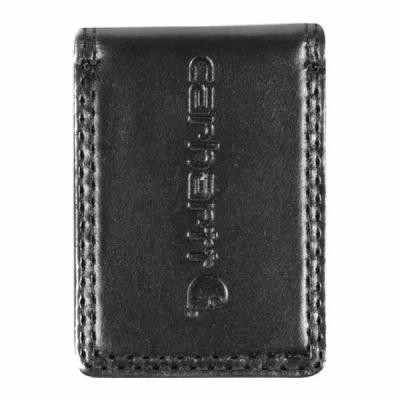 カーハート Carhartt マネークリップ Workwear Full Grain Leather Money Clip Black