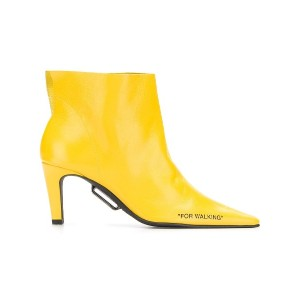Off-White pointed toe boots - イエロー