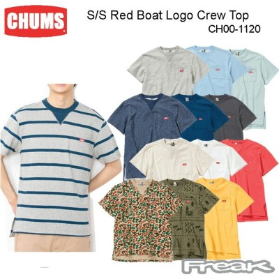 CHUMS チャムス CH10-1120 S/S Red Boat Logo Crew Top Women's 半袖レッドボートロゴクルートップ(トップス/スウェット) ※取り寄せ品