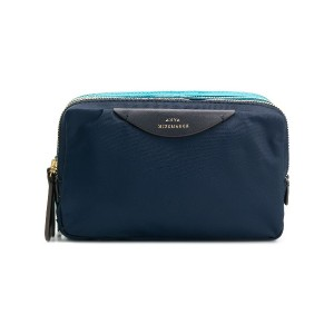 Anya Hindmarch stack triple make up pouch - ブルー