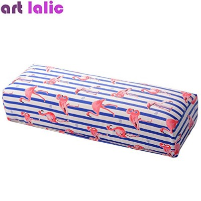Nail Art Hand Pillow Cushion Flamingo Design Salon Home Manicure Hand Rest Tool