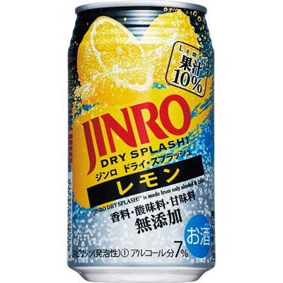 JINRO DRY SPLASH! レモン 350ml×24