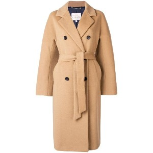 Tommy Hilfiger belted double breasted coat - ブラウン
