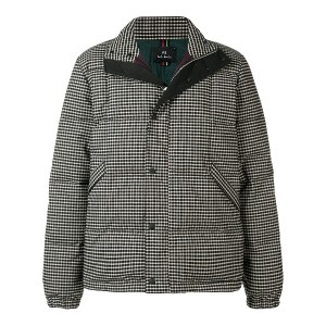 Ps By Paul Smith checked padded jacket - ブラック