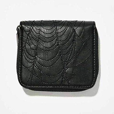 【WIDOW】LETHAL BITE EMBROIDERED WALLET 蜘蛛の巣レザー二つ折り財布