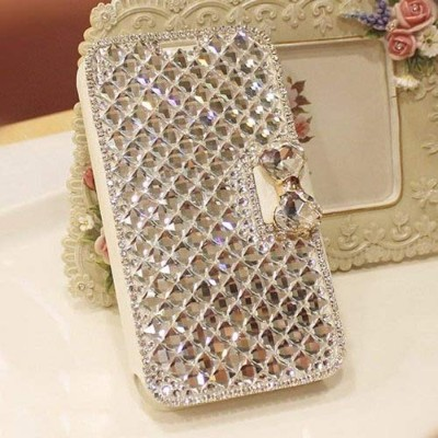 (Crystal) - Galaxy Note 5 Wallet Case, UnnFiko Handmade Luxury 3D Bling Crystal Rhinestone Leather...