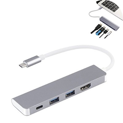 Shengkai usb Type-C to HDMI/USB/PD ハブ変換アダプタ 高速転送 Type-c*1+HDMI 4K*1+USB3.0*2 4-in-1 HUB 4ポート 5Gbps...