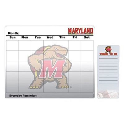 "Maryland Terrapins 16 "" x 20 "" Dry Erase Calendar and 4 "" x 10 "" Dry Erase Board"