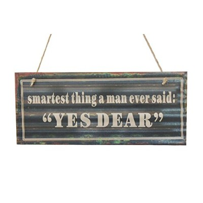 Smartest Think A Man Ever Said: Yes Dear Chalk Sign By meijiafei