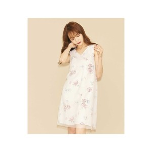 【SALE 27%OFF】titty&Co. 水彩フラワーワンピース(ピンク)【返品不可商品】